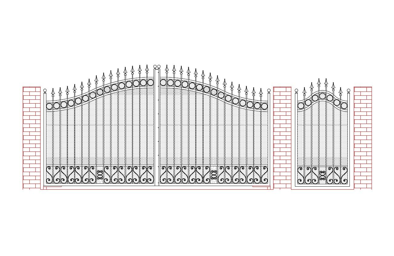 disegno cancello scorrevole hv21 regardsdefemmes